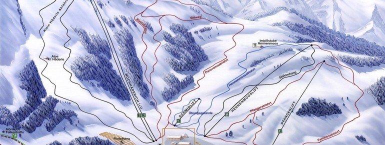 Pistenplan Alpenarena Hochhäderich
