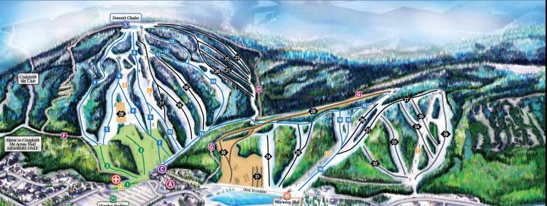 Pistenplan Alpine Ski Club of Toronto
