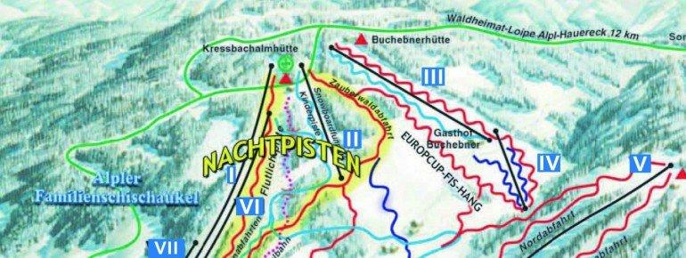 Pistenplan Alpl - Krieglach