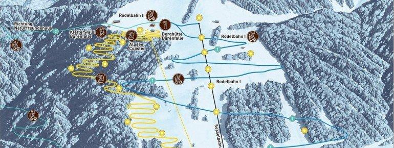 Pistenplan Alpsee Bergwelt