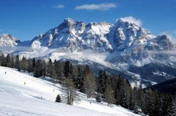Pisten am Fuße des Lavarella Berges!