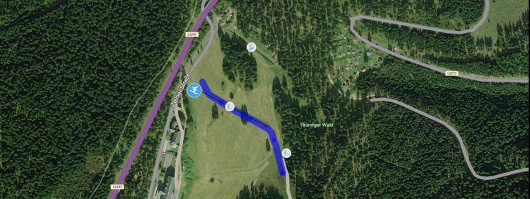 Pistenplan Alte Golfwiese in Oberhof