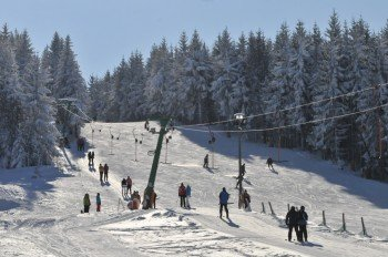 Lift und Piste in Altenberg