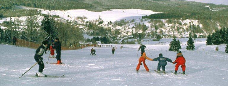 Die Pisten in Altenfeld sind sehr flach und eignen sich somit ideal für Skianfänger