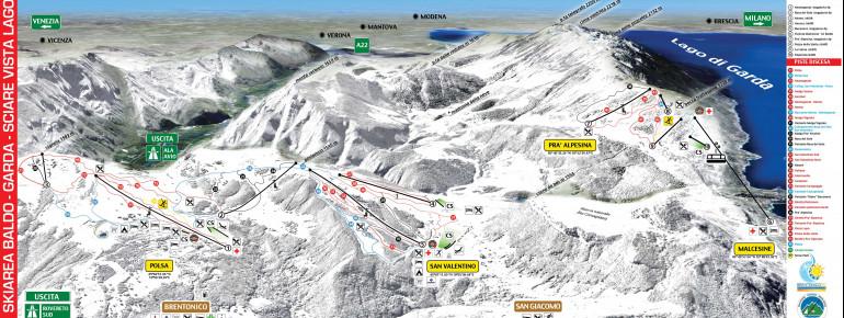 Pistenplan Brentonico Ski