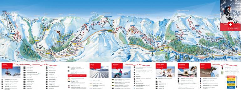 Pistenplan SkiArena Andermatt Sedrun