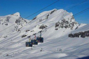 Die Hochgebirgsbahnen am Ankogel, der zu den schneesichersten Bergen Kärtens zählt.