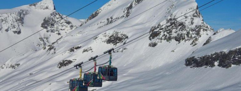 Die Hochgebirgsbahnen am Ankogel, der zu den schneesichersten Bergen Kärntens zählt.
