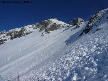 Blick auf die Bergstation der Ankogelbahn.