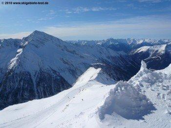Ausblick von der Bergstation der Ankogelbahn.