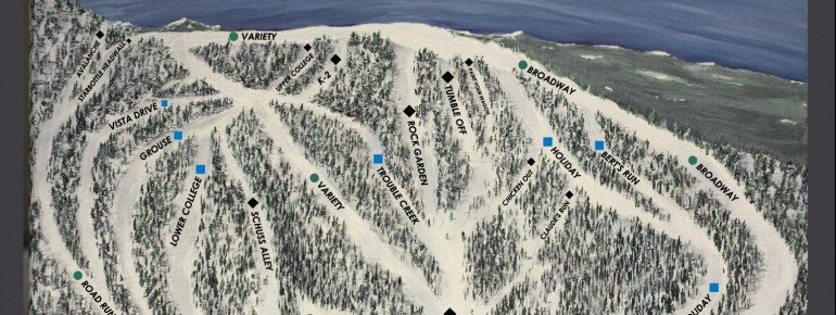 Pistenplan Anthony Lakes Mountain Resort