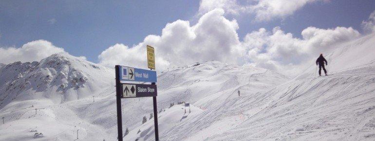 Blick auf den höchsten Lift im Skigebiet: Der Lenawee Mountain Lift!