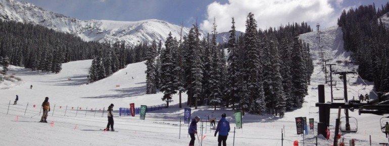 Blick auf den unteren Bereich der leichten Abfahrten Wrangler und Sundance!