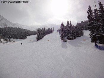 Blick auf die Abfahrten Sundance, High-Noon und Ramrod!
