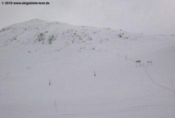 Der Zustieg zum East Wall Bereich und zur Abfahrt North Pole! Achtung: Hierhin sollten sich nur Alpinisten mit Lawinenausrüstung wagen.