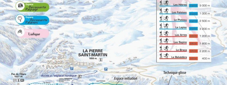 Pistenplan Arette - La Pierre St. Martin