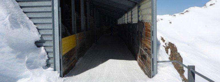 Der Skitunnel am Rothorn