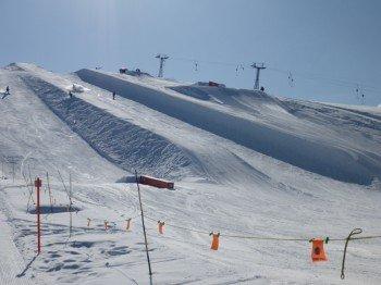 Halfpipe im Snowpark Arosa