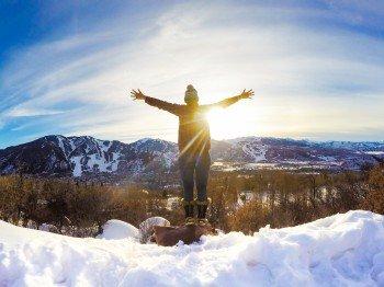 Und nach dem Skifahren? Eine Wandertour durch die Skilandschaft Aspens!