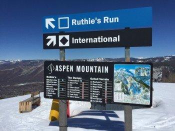 Vorbildliche Beschilderung am Aspen Mountain