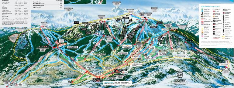 Pistenplan Aspen Snowmass