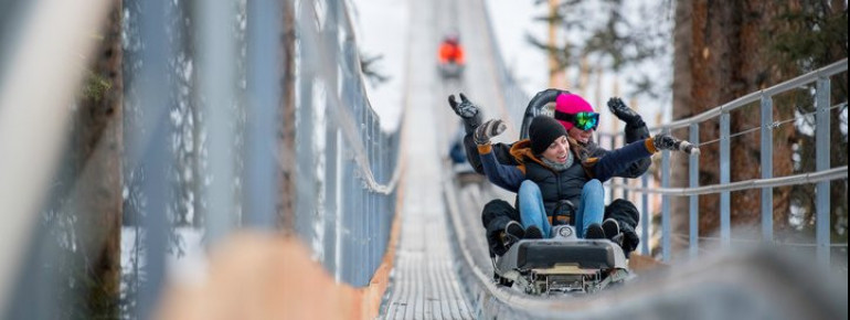 Der neue Breathtaker Alpine Coaster hat im Dezember 2017 eröffnet.