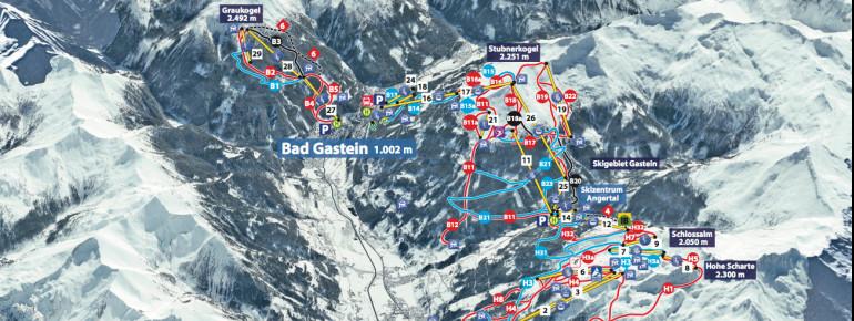 Pistenplan Bad Gastein - Bad Hofgastein