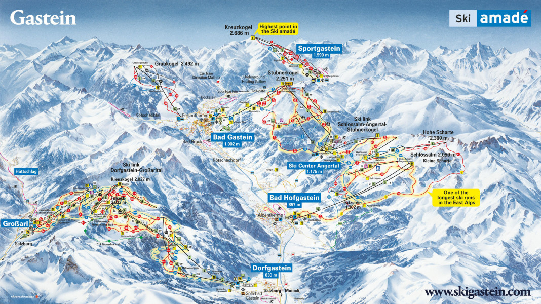 Skigebiet Bad Gastein - Bad Hofgastein • Skiurlaub