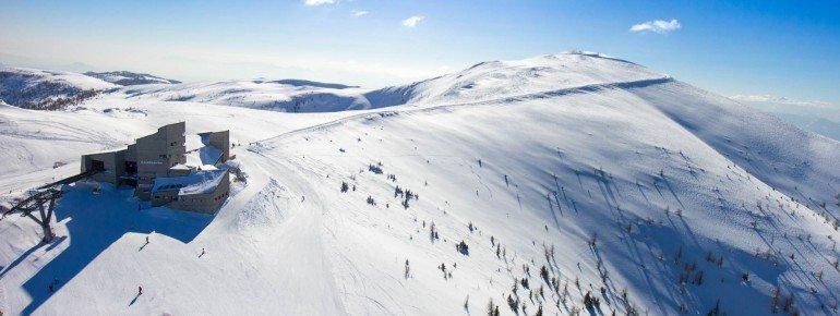 In den Kärnter Nockbergen befindet sich das Skigebiet Bad Kleinkirchheim mit seinen 103km präparierten Pisten.
