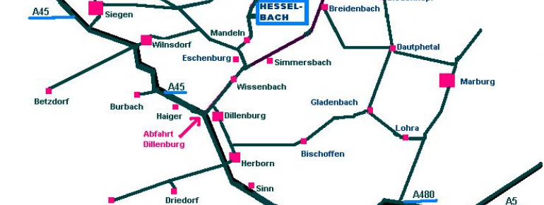 Anfahrtsskizze Hesselbach