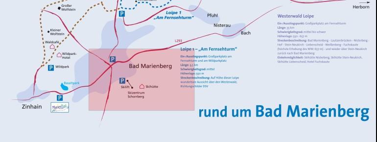 Pistenplan Bad Marienberg Schorrberg