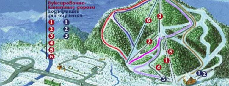 Pistenplan Baikalsk Sobolinaya