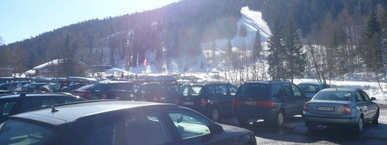 Blick vom Parkplatz auf die Kohlerhang-Abfahrt (3)!
