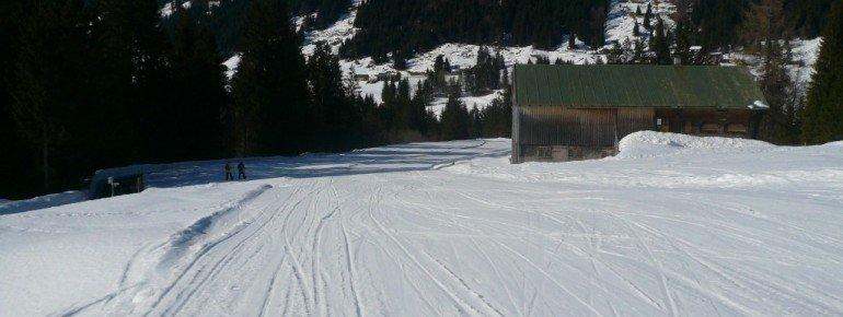 Die Lappachabfahrt (10) im Skigebiet Balderschwang.