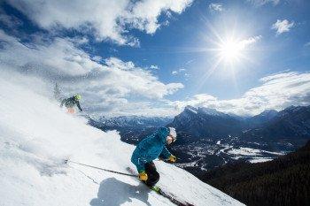 Mt Norquay bietet Skifahrern und Snowboardern ein hervorragendes, wenn auch nicht riesiges Terrain mit 190 Hektar Abfahrtsfläche.
