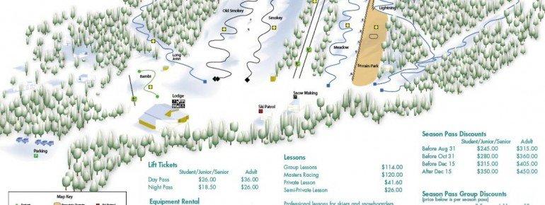Pistenplan Batawa Ski Hill