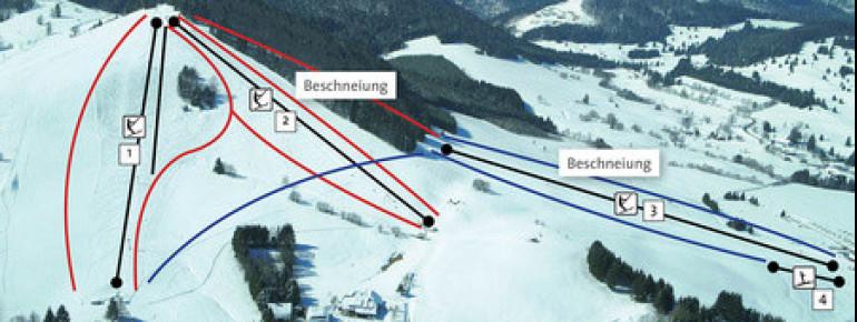 Pistenplan Bernau - Spitzenberg Köpfle