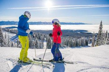 Big White ist das zweitbeliebteste Skigebiet in British Columbia mit 118 dir zur Verfügung stehenden Pisten jedes Skiniveaus.