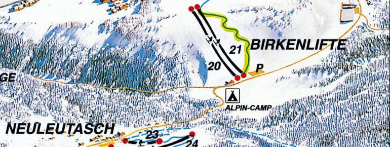Pistenplan Birkenlifte Seefeld