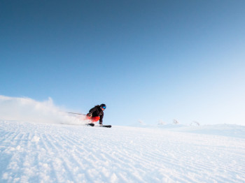 Das Skigebiet Björnrike erstreckt sich in sonniger Südlage.
