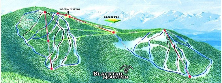 Pistenplan Blacktail Mountain Ski Area