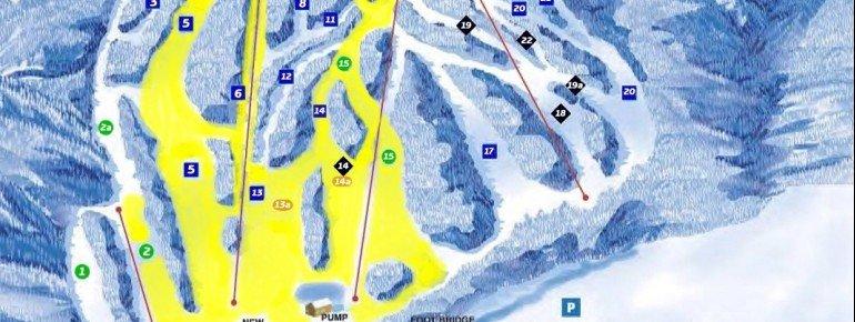 Pistenplan Blandford Ski Area
