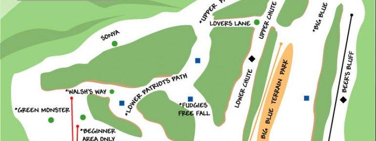 Pistenplan Blue Hills Ski Area