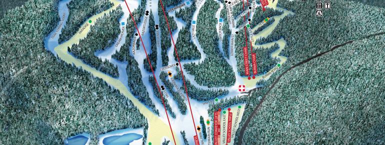 Pistenplan Blue Mountain Ski Area