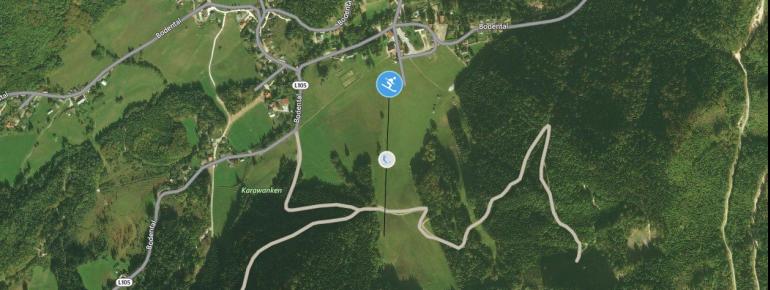 Pistenplan Bodental - Unterbergen / Ferlach