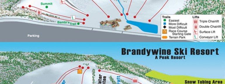 Pistenplan Boston Mills & Brandywine Ski Resort