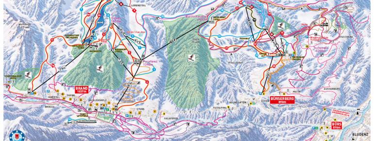 Pistenplan Bergbahnen Brandnertal
