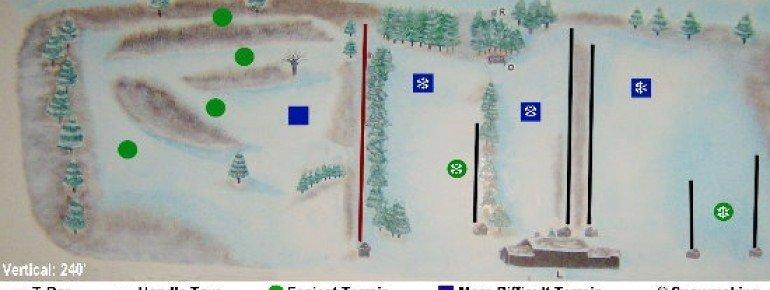 Pistenplan Brantling Ski Slopes