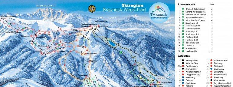 Pistenplan Brauneck - Wegscheid