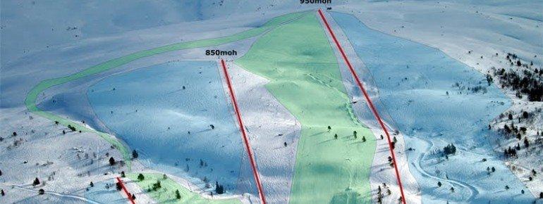 Pistenplan Breimsbygda Skicenter